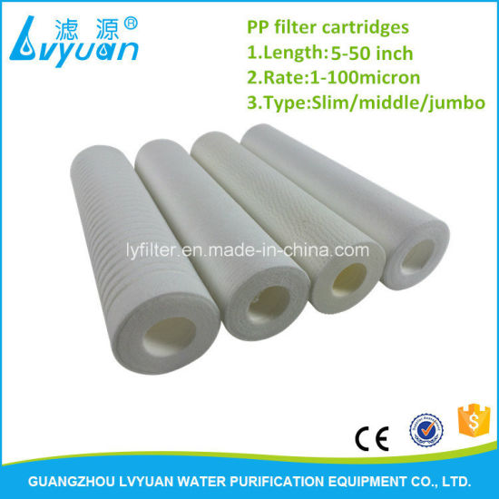 5 Micron Sediment Groove PP Filter Cartridge 10 Inch for Water Purifier