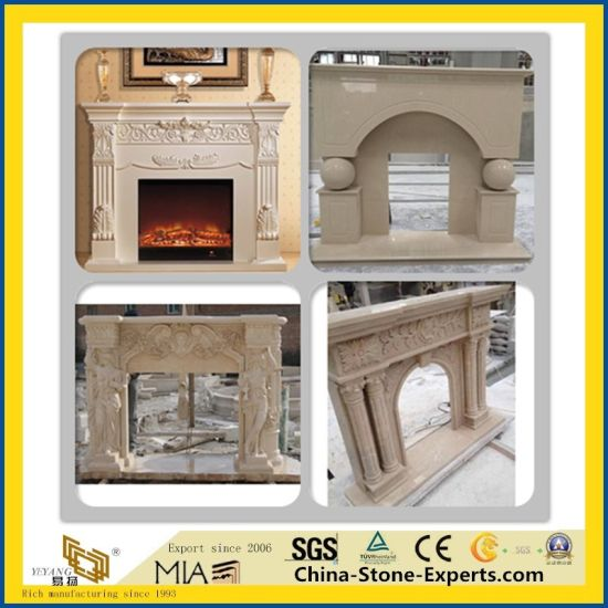 White/Black/Red/Green/Yellow/Purple/Beige/Brown Marble/Stone/Limestone/Travertine/Sandstone/Granite/Onyx/Mantel Fireplace for for Indoor Decoration pictures & photos