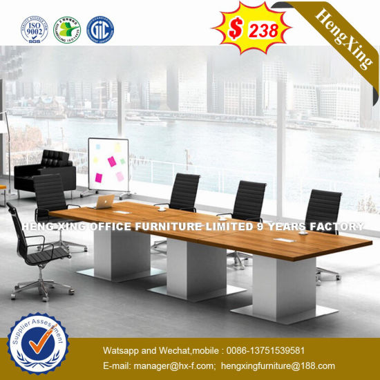 Chinese Furniture 8 Seat Wooden Laminated Conference Table
