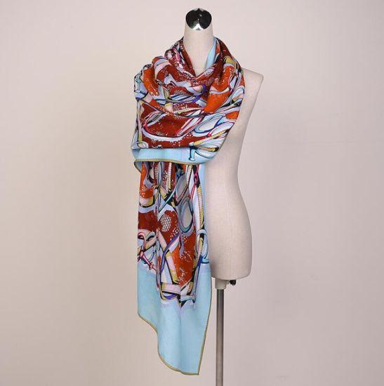 018f87524 China Custom Digital Printing Silk Mix Cashmere Winter Blended Scarf ...