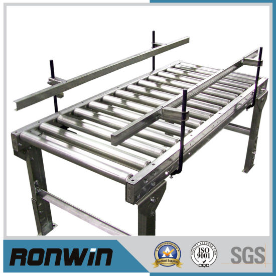 China Gravity Stainless Steel Roller Conveyor For Food