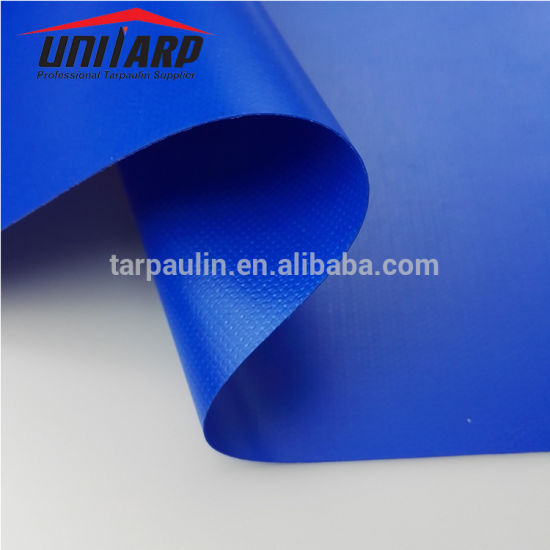 High Glossy 4000n Tensile Strength PVC Coated Textile for Trailer Covers pictures & photos