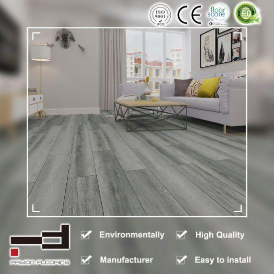 Luxury Textured Gray Color Waterproof PVC Vinyl Plank Flooring Tile