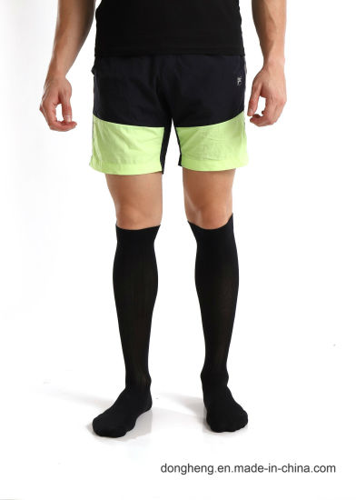 Cotton Compression Graduated Support Knee-High Pure Black Socks for Men&Women pictures & photos