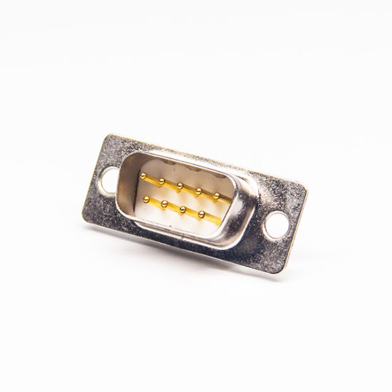 Gold Plated D Sub 9 Pin Male Connector Solder for Wire