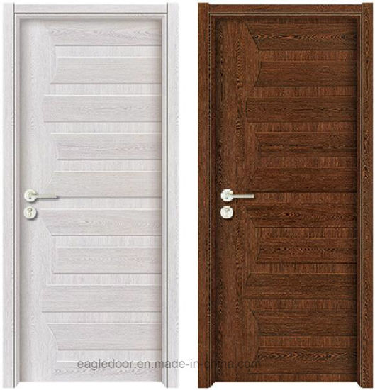 China Simple Designs Modern White Wood Door Design Melamine Finish