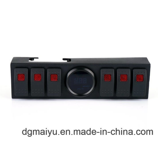 China 6 Rocker Switches Panel Control System Wiring Harness Voltage Display China Rocker Switches Panel