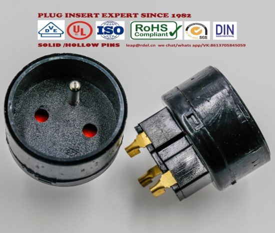 Insert Socket Europe for Extension Cords NF French Type Socket Inserts Pi-0098 pictures & photos