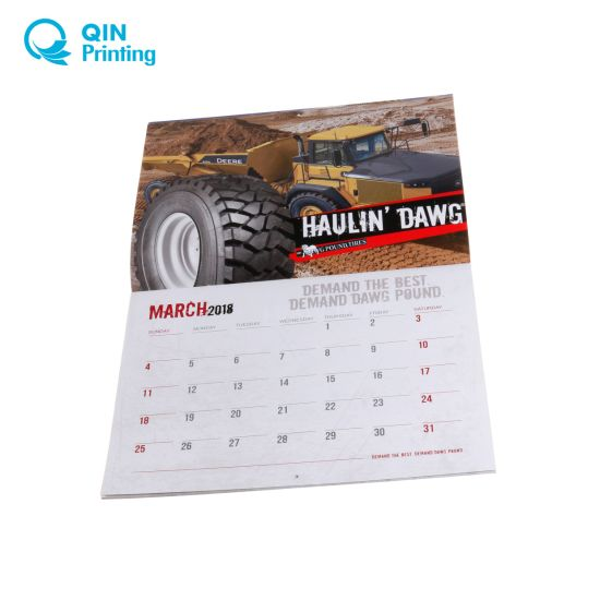 China Best Price Full Color 2018 Wall Calendar Printing