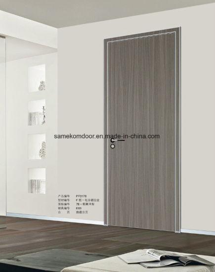 Aluminum Frame Wooden Interior Room Door