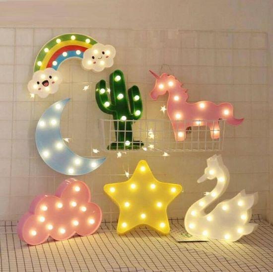 Amazon Ebay Hot Sale LED Modeling Lamp Unicorn Table Lamp Night Light Plastic Flamingo Christmas Decoration Lamp
