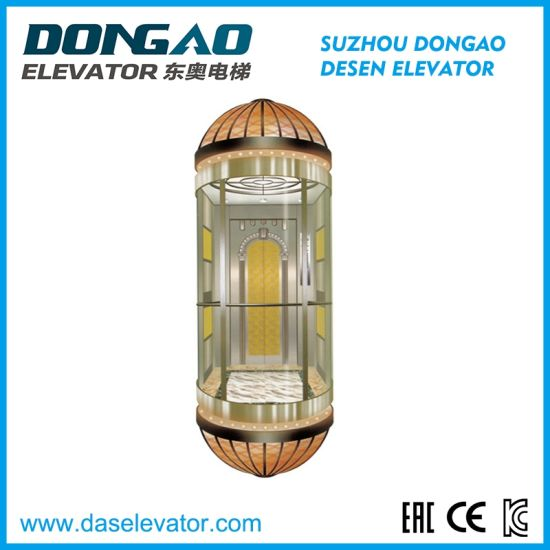 Good Quality Glass Sightseeing Panoramic Observation Elevator with Vvvf Device