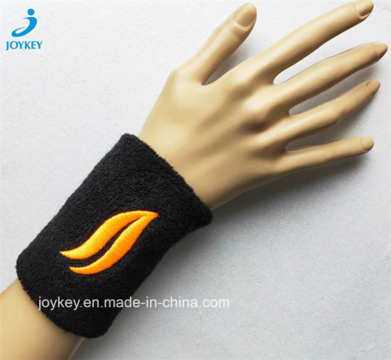 Terry Sports Wristband with Customized Embroidery Logo