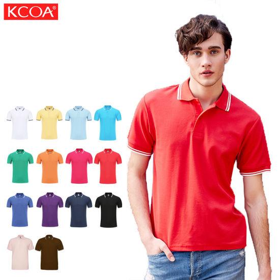 Sport Cheap Red Custom Logo Plain Cotton Mens Polo Tshirt