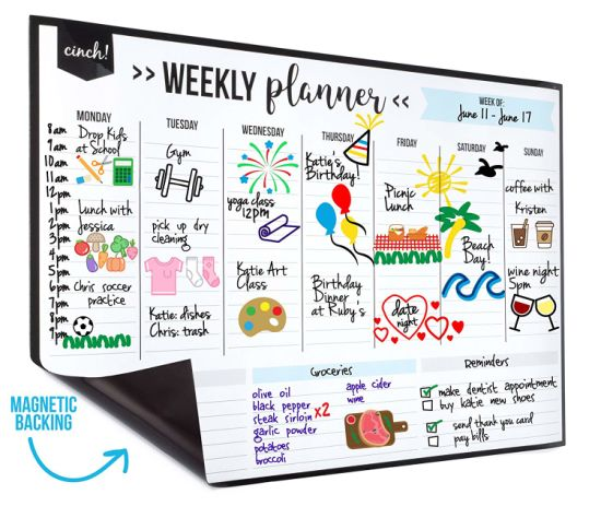 Dry Erase Wall Sticker Notepad Planner