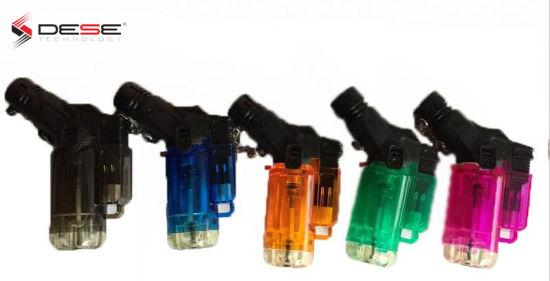 Jet Flame Torch Refillable Lighter Transparent Lighter with Flame Adjustable (DK-715JT)