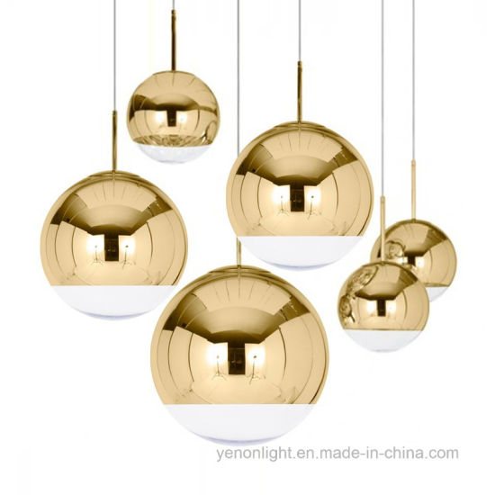 Copper Sliver Mirror Modern Glass Ball Chandelier Pendant Light pictures & photos