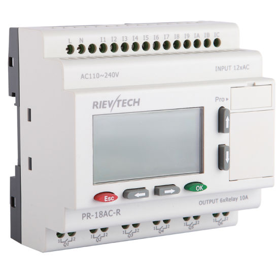 Factory Price for Programmable Logic Controller PLC for Intelligent Control (Programmable Relay PR-18AC-R-HMI)