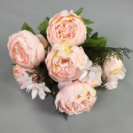 China Wholesale Faux Silk Peony Flower Decorative Artificial Silk Flower Arrangements For Sale China Artificial Silk Flower Arrangement And Artificial Silk Flower Price