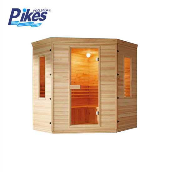 Customized Traditional Wooden Sauna Room with Heater