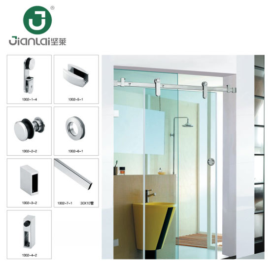 Economical Frameless Sliding Shower Glass Door Kit Hardware