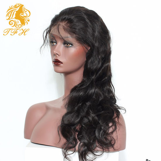 Wave Lace Front Human Hair Wigs with Baby Hair Glueless Full Lace Wigs, Brazilian Virgin Full Lace Human Hair Wig Pony Tail Wig pictures & photos