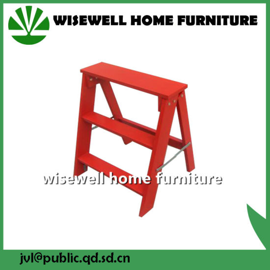3 Step Folding Wood Ladder Chair pictures & photos