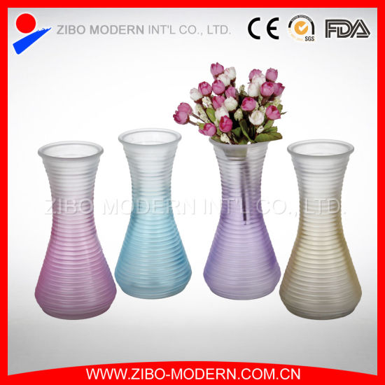 224 & Wholesale Colored Glass Vases Sprayed Colored Glass Flower Vase