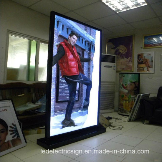 China Free Standing LED Light Box With Double Side Display Signs Classy Free Standing Signs Displays