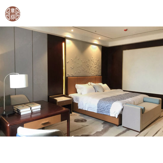 Customized Modern Bedroom Hotel Furniture for Luxury 5 Star Room Standard by Bowson Factory