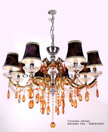 Modern Hotel Chandelier Pendant Light Luxury Candle Lighting (88004-8)