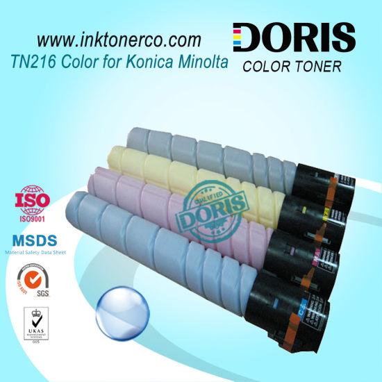 Color Toner Powder Japan Tomoegawa Tn216 Copier for Konica Minolta Bizhub C220 C280 C360 Photocopier Machine