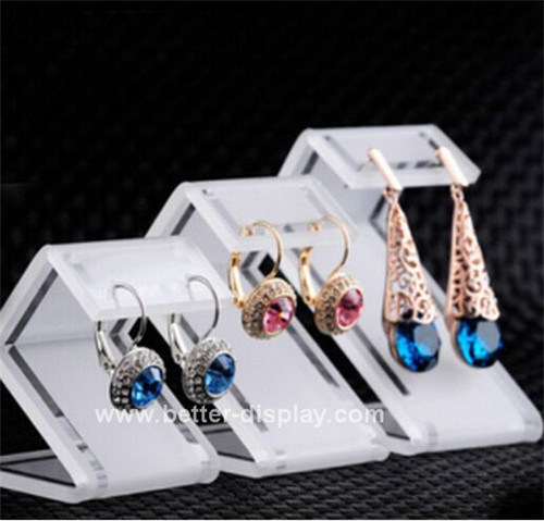Wholesale Frosted Acrylic Earring Display