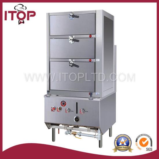 Attirant Environmental 3 Deck Food Steamer Cabinet (YRZG)