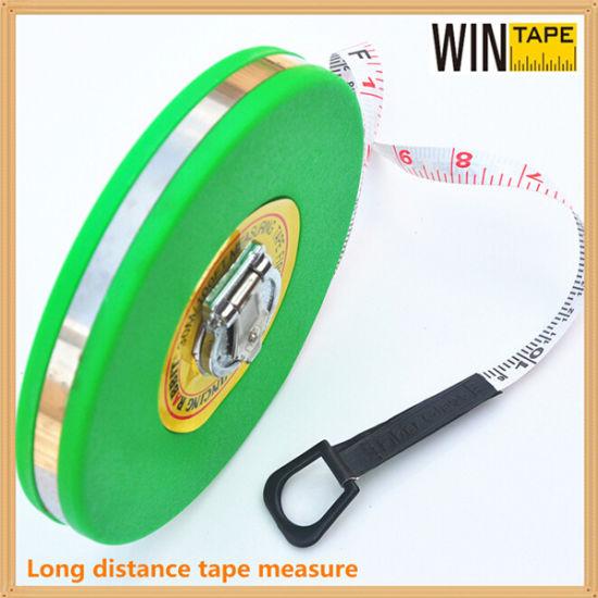 china pvc fiberglass rolling round retractable measure tape 10m fb