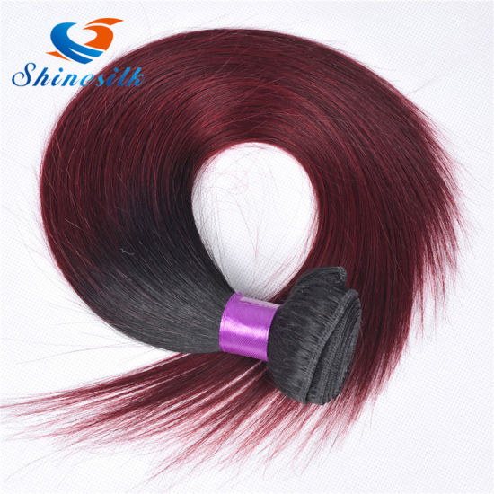 Wholesale and Retailing Ombre Hair Peruvian Straight Hair Bundles Ombre Hair  1b 99j for Women Hair Extensions cafd4b5b05