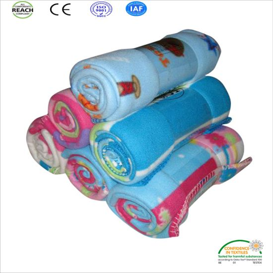 china promotional printing polar fleece blankets sell in cheap price