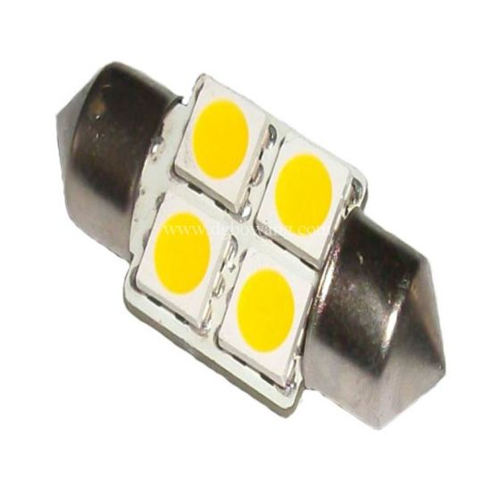 Auto 4pcs Led 004z5050 Festoon Smd 5050 Lights85 31 0wOPnk