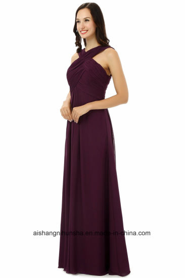 Women Chiffon Sleeveless Bridesmaids Dresses Wedding Party Dress pictures & photos