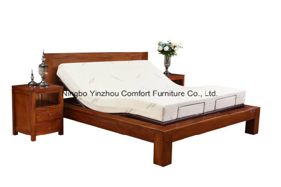 China with Memory Foam Mattress Metal Frame Massage Adjustable Bed ...