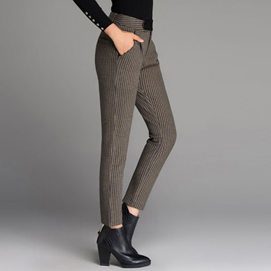 9d9444c72f China Manufacture Slim Fit Fashion Stripe Wool Dress Pants pictures & photos