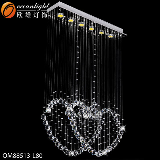 Modern LED Crystal Pendant Lamp with Hotel, Restaurant or Offices