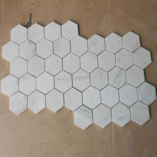 Beautiful Wallpapers Building Material Easy Install Lowes Decorative Carrera Marble Mosaic