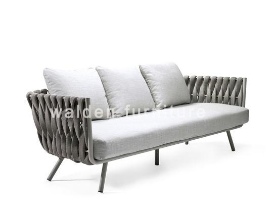 [Hot Item] Modern Garden Loveseat Aluminium Sofa Lounge Outdoor 3-Seater  Sofa