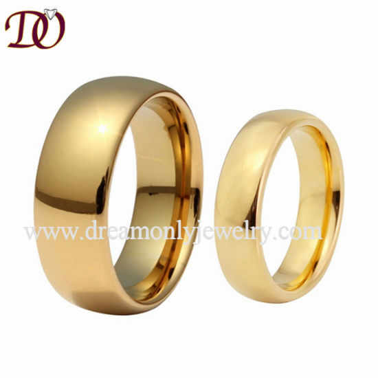 China Shiny Tungsten Wedding Band For Men And Women Tungsten Gold