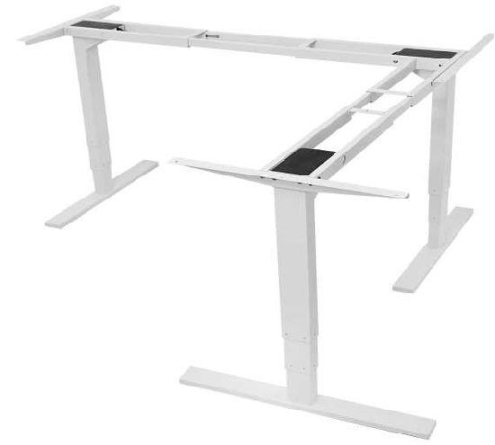 Ergonomic Electric Height Adjustable Standing Corner L Shape Desk