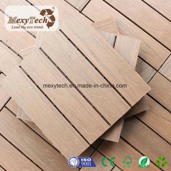 Foshan Patio WPC Interlocking 300*300mm Decking Tile