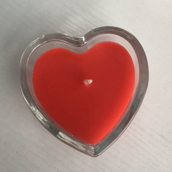 Scented Romantic Heart Shape Glass Candle for 2018 Valentine's Day