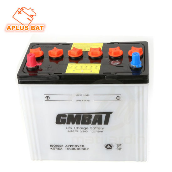 Wholesale 12V 45ah Dry Charged Vehicle Batteries Ns60 46b24r