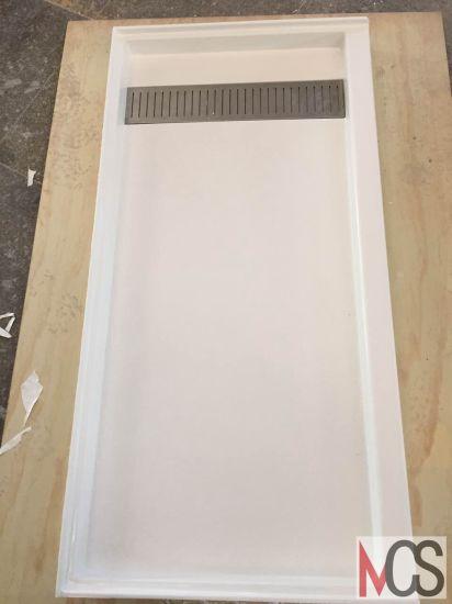 Artificial Trench Drain/Non-Slip/Matt/Matte Cast/Cultured Marble Shower  Tray/Base/Pan for Bathroom